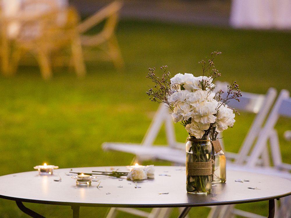 Exteriores Qgat con decoración floral
