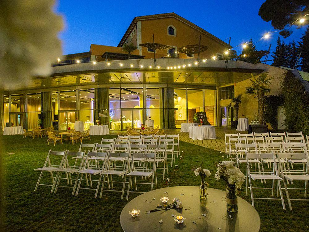 Jardines Qgat preparados para boda civil